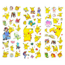 Kawaii 3pcs Pokemon Stickers Pikachu Pocket Monster Scrapbooking Sticker Sheet