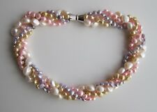 """4 Row Baroque Multicolour F.W. Cultured Pearl Necklace - 18.5"""" long, 4 - 9 mm."""