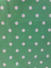 Pottery Barn Teen Fabric Shower Curtain Green & White Polka Dots
