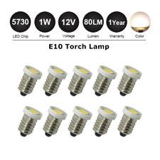10x E10 LED MES Miniature Edison Screw Indicator Light Bulbs DC 12/V Warm White