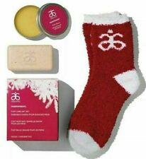 Arbonne PAMPERMINT Foot Care Gift Set Foot Soap + Foot Balm + Socks, BNIB