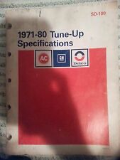 Lots of GM AC / Delco Tuneup Specifications 71-80  81-86 Tune Up Manuals & More