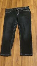 *Royal Blue* Plus 23x29½ Dk Blue Low Stretch Flap Pkts Super Skinny Jeans