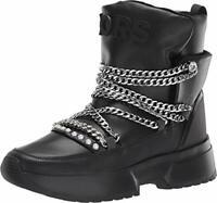 Michael Michael Kors Women's Shoes Cassia Bootie Leather Closed, Black, Size 7.5