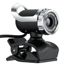 USB 2.0 Webcam Camera with MIC Clip-on for Computer PC Laptops Macbook 30FPS HD