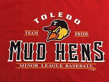 TOLEDO MUD HENS Ohio minor league baseball T shirt Detroit Tigers Team Pride XL