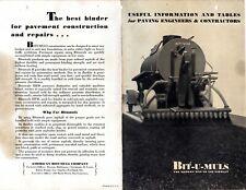 2 pc Lot American Bitumuls Asphalt Road Building Vintage 1920's Advertising