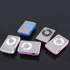 Mini Schwarz Mirror Clip USB Digital Mp3 Music Player Support 8GB SD TF Card.