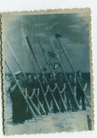 Beefcake men Russian Navy sailor hand tinted ? altered gay Int vintage photo