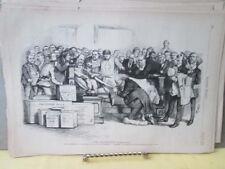 VIntage Print,DEATH BED MARRIAGE,Harpers,Nast,1872