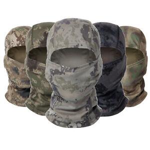 Windproof Camo Balaclava Full Face Mask Paintball Airsoft CS Warmer Headgear