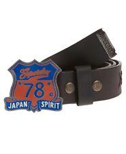 Superdry Unique Sample Enamel Arizona 78 - Leather Belt Dark Brown RRP £34.99