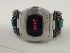 Vintage Pulsar P2 2900 Red LED Stainless Steel Watch James Bond 007 Unique Band