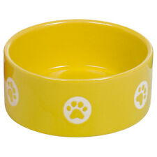NOBBY CHIENS Bol en céramique TASSU jaune, NEUF