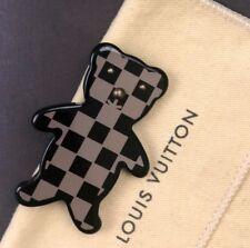 Raro Louis Vuitton LV Monogram Damier Oso De Peluche Unisex Broche Pin para chaqueta