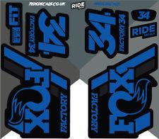 Fox 34 2018 Style Sticker Decal Sets- Enduro, DH, Blue