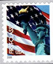 Scott #3973 39-Cent Non-Denominated Statue & Flag Self-Adhesive Booklet Single