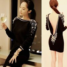 Backless 3/4 sleeve dress size small