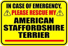 Emergency Rescue American Staffordshire Terrier Sticker