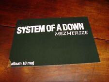 SYSTEM OF A DOWN MEZMERIZE NETHERLAND PROMO POSTCARD!!