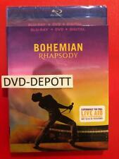 Bohemian Rhapsody Blu-Ray + DVD + Digital HD & Slipcover New FAST Free Shipping