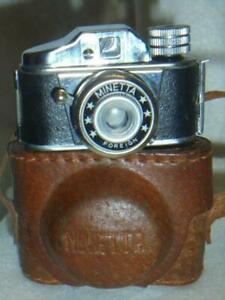 VINTAGE MINIATURE CAMERA  - MINETTA SPY CAMERA WITH 6 ROLLS OF FILM AND CASE