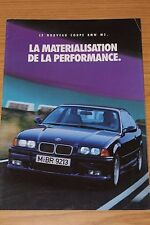 BMW M3 Coupe 1992 Sales Folder FRENCH TEXT