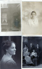 Lot Of 4 Antique Original Postcards - 'Glamour', (RP)