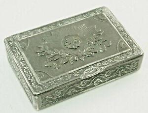 Charming Antique Snuffbox, Tobacco Tin, Pill Box Um ca.1800 Tin, (Z17)