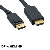 Kentek 6' DisplayPort 1.2 to HDMI 1.4 Cable 28AWG 4K 3D for PC Mac HDTV LED TV