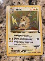 Raichu Fossil Holo Pokemon Card. 14/62
