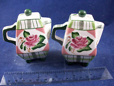 NIB Romantic Rose Tea Pot Salt & Pepper Shakers   C40B25