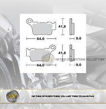 PER KTM EXC SIX DAYS 125 DAL 2009 AL 2015 COPPIA PASTIGLIE FRENO POSTERIORI BRAK