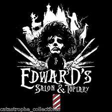 EDWARD SCISSORHANDS Salon & Topiary TIM BURTON Johnny Depp TEEVILLAIN T-SHIRT