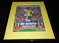 2004 Planters Nuts / Football Framed 11x14 ORIGINAL Vintage Advertisement