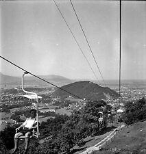 AUTRICHE c. 1955 - Télésiège de Gaisberg Salzbourg - Négatif 6 x 6 - Aut 161