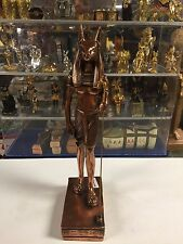 Large Vintage Egyptian God Anubis Statue  W/COPPER WASH 1977 Made In Egypt