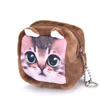 Animal visage sac à main mini sac à glissière sac d'écouteur