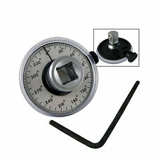 "PROFESSIONAL TRADE QUALITY 1/2"" DRIVE TORQUE ANGLE GAUGE WRENCH CAR GARAGE"