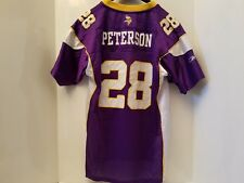 4e47c870c25 MINNESOTA VIKINGS Adrian Peterson # 28 AUTHENTIC NFL REEBOK youth XL jersey