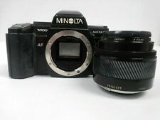 Minolta Maxxum 7000 Film Camera w/Original Strap & Minolta Konica Maxxum 50mm