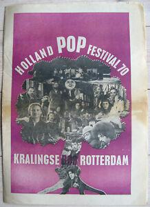 Holland Pop Festival 70 program [Pink Floyd, The Byrds, Jefferson Airplane]