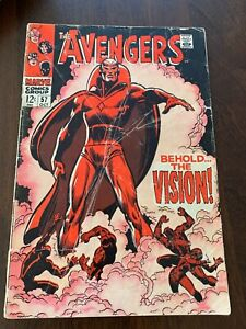 Avengers #57 (Oct 1968, Marvel) 1st appearance of the Vision! GD