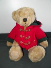 """Harrods 2003 Christmas Bear William Jointed Plush 13"""" Dressed With Tag Stuffed"""