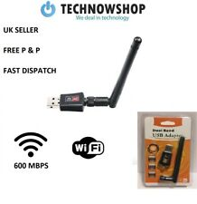 USB WiFi Adapter Dongle Dual Band 600Mbps Wireless LAN 802.11ac/a/b/g/n5/2.4Ghz