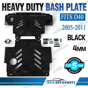 Black Bash Plate For Nissan Navara D40 2005-2011 ST ST-X RX Front Sump Guard 4mm