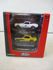 Greenlight Road Racers 1965 Shelby Gt-350 and 1967 Ford Mustang Coupe 1/64