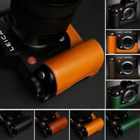 Handmade Leather Half Camera Case Bag Protective Covers Fit for Leica SL Typ601