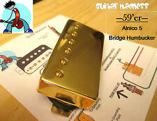 G.M. 59'er Alnico 5 Gold Humbucker Bridge (52mm) (4-wire) for Gibson Epiphone®