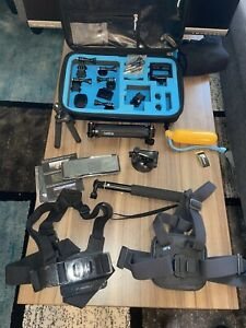 GoPro Hero 7+ Accessories Assortment And Thule Carrying Case